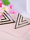 Boucles d'oreilles en émail mode simple creux de bonbons colorés géométriques de triangle d'oreille (couleur aléatoire)