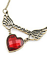 Korean fashion love LOVE sweater chain - Love Wings hollow wings N411