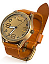 2013 senhoras novas do relógio do vintage de couro de vaca senhoras quartzo mulheres homens relógio vestido para as mulheres