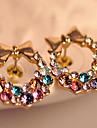Z&X® 슈퍼 플래시 화려한 다채로운 다이아몬드 스터드 귀걸이 활
