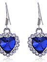 Drop Earrings Crystal Crystal Alloy Heart Heart Jewelry Daily