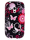 Red Butterflies Pattern TPU Soft Case for Samsung Galaxy S3 mini I8190