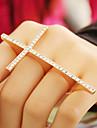 Anéis Pesta / Diário Jóias Liga Feminino Anéis Meio Dedo8 Dourado / Prateado