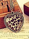 Бронзовый гранями стекла любви сердца персика длинное ожерелье N19