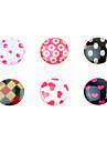 Shivering Resin Button Sticker(6 PCS)