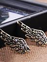 유럽과 미국의 빈티지 보석 절묘한 다이아몬드 천사의 날개 귀걸이 E619 과장