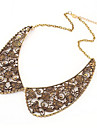 European and American retro palace carved hollow fake collar collar sweater chain N224