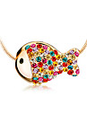 Colorful goldfish clavicle chain necklace N507
