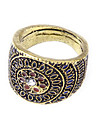 Cute Retro Fashion Personality Wild Carving Patterns Point Diamond Piaget Ring