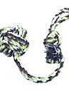 Игрушка для котов Игрушка для собак Игрушки для животных Жевательные игрушки Веревка Завязки Зеленый Синий Текстиль