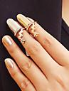 모조 다이아몬드 꽃 손가락 못 반지 (무작위 색깔)
