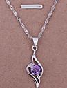 z&X® colar 18k prata esterlina com brilho cadeia de jóias