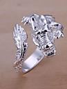 Кольца Для вечеринок Бижутерия Сплав / Серебрянное покрытие Классические кольцаРегулируется Золотой