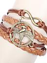 Leather Bracelet Fashion Movie Bird Handmade Infinity Friendship Bracelet Inspirational Love Bracelet Jewelry Wrap Bracelet Christmas Gifts1 pc