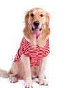 Pur Coton Style Pet Stripe T-shirt pour chiens (couleurs assorties, S-XL)