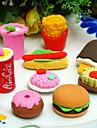 fast food em forma de conjunto borracha (4 pcs)