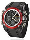 Мужские мультифункциональные наручные часы с металлическими элементами на каучуковом ремешке. Цвета в ассортименте.