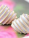 한국 보석 귀걸이 귀걸이 복숭아 심혼 사랑 줄무늬 (무작위 색깔)