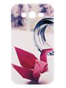 Бумага Кран Pattern Жесткий чехол для Samsung Galaxy I9082 дуэта
