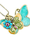 Women's European and American vintage butterfly ornaments sweater chain N483