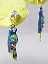 Europe and tropical jungle glaze diamond earring earrings small parrots E542