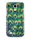 Для Кейс для  Samsung Galaxy С узором Кейс для Задняя крышка Кейс для Животный принт PC Samsung S4 Mini