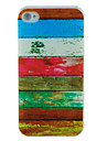 Watercolour Horizontal Stripe Embossment Back Case for iPhone 4/4S