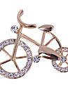 여성의 자전거 모양의 다이아몬드 매력 브로치 n303