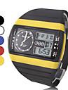 Мужской Наручные часы Цифровой LCD / Календарь / Секундомер / С двумя часовыми поясами / тревога Pезина Группа Черный бренд-