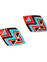 European and American jewelry personalized retro punk style hit color color drip geometric earring E947