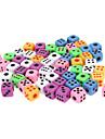 50PCS 다채로운 최고 작은 주사위 팩