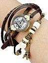 Women's Tower Pattern Round Dial PU Band Quartz Analog Bracelet Watch (Assorted Colors) Cool Watches Unique Watches