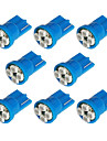 8x T10 194 168 501 4-smd 3528 LED Car Light Bulb Blue