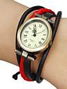 Mulheres Relógio de Moda Bracele Relógio Japanês Quartzo Couro Legitimo Banda Boêmio Preta Branco Vermelho Marrom CáquiPreto/Vermelho