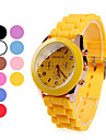 Women's Jelly Color Silicone Band Quartz Wrist Watch (Assorted Colors)
