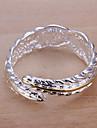 Anéis Pesta Jóias Liga / Prata Chapeada Anéis GrossosAjustável Dourado