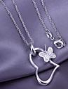 coração e borboleta padrão pingente (pendente apenas)