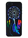 Net Circle With Colorful Feather Embossment Back Case for iPhone 4/4S