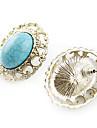 Earring Stud Earrings Jewelry Women Daily Alloy Blue KAYSHINE