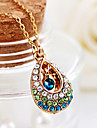 Angel crystal teardrop necklace lady short hollow diamond drop pendant necklace jewelry N566Imitation Diamond Birthstone