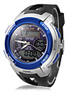 Мужская многофункциональный аналого-цифровой круглый циферблат резинкой спортивный наручные часы (разных цветов)
