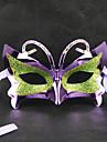 Зеленый и фиолетовый Маскарад бабочки Ретро Хэллоуина маски с Rhinestone Blue Ribbon