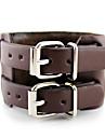Alliage Multilayers boucle de ceinture en cuir bracelet de café