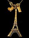 Tour Eiffel chandail chaîne coréenne de la mode des bijoux N120