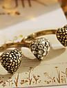 Европейской и американской моде ретро Алмазный персик сердца бициклическое кольцо