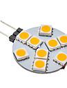 daiwl G4 1.5W 9x5050smd 70-100lm 3000K 따뜻한 흰색 빛을 볼 LED 전구 (12V)