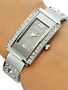 Femme Montre Tendance Bracelet de Montre Quartz Imitation de diamant Alliage Bande Etincelant Bracelet Argent Noir Violet Rouge Bleu Rose
