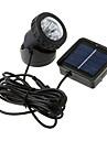 6-LED Waterproof White Light Solar Powered Spotlight Garden Outdoor Flood Lamp (CIS-57157)