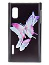 Beaux papillons cas dur de modèle pour LG E612 (Optimus L5)