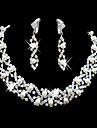 Eruner®Wedding Rhinestone Adjustable Necklace & Earrings Jewelry Set